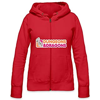 Dungeons And Dragons Womens Zipper Hoodie X-Large