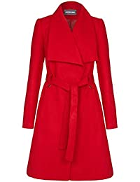 Anastasia Women's Large Collar Belted Wrap Winter Coat