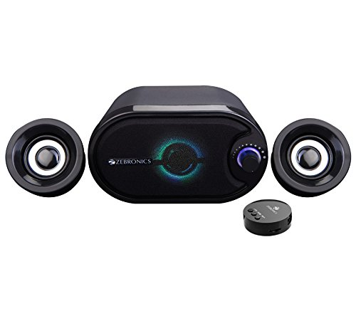Zebronics Melody USB powered 2.1 speaker that has multi connectivity options like Bluetooth/USB/TF/ AUX and comes with an inbuilt FM.