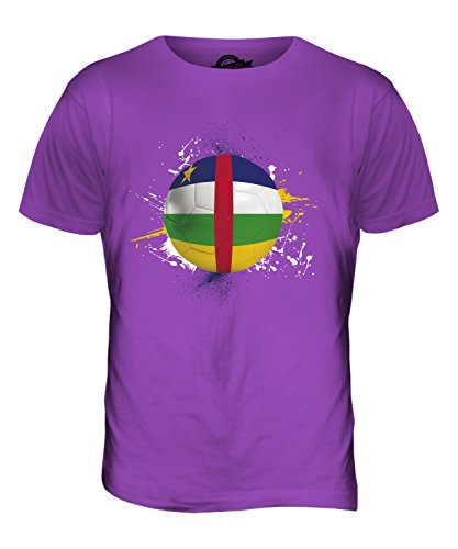 CandyMix Repubblica Centrafricana Calcio T-Shirt da Uomo Maglietta Viola