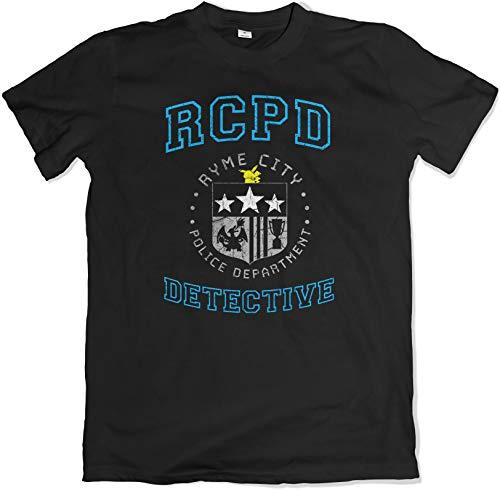 Teamzad Ryme City Police Dept Detective Schwarz T Shirt Medium