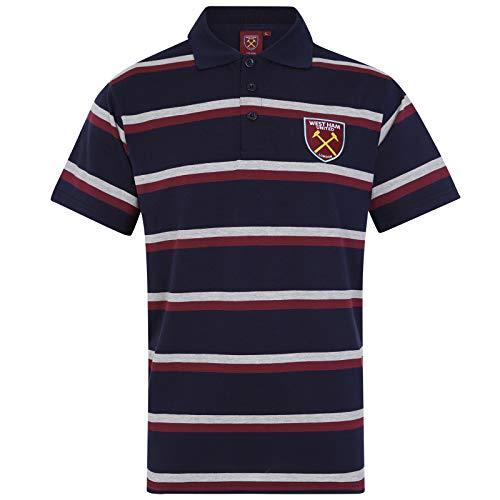 West Ham United FC Polo Oficial Para Hombre - A Rayas