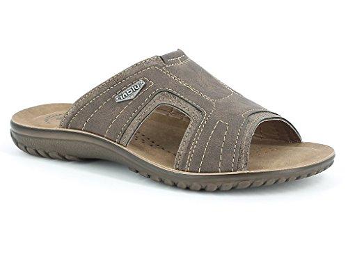 Hommes Messieurs Deux Tons Confort Casual Enfiler Été Plage Vacances Tous les jours Sliders Sandals Chaussures Taille Marron