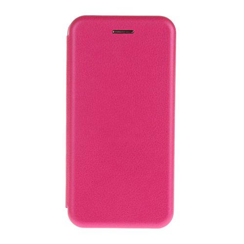 YHUISEN Solid Color Premium-PU-Leder und weicher TPU Gummischutz Mappen-Entwurfs-Flip Folio Case Schutzhülle mit Karten-Slot / Ständer für iPhone 6S 6 ( Color : Black ) Rose