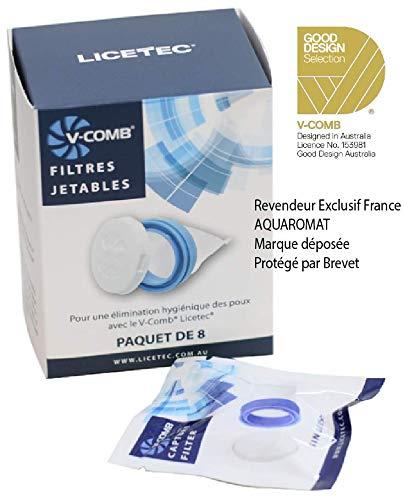 Licetec V-Comb 8 Filtres Jetables