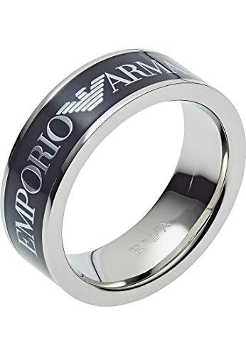Emporio Armani EGS2607040515 Herren Ring ESSENTIAL Silber Blau 21,0 mm Größe 66