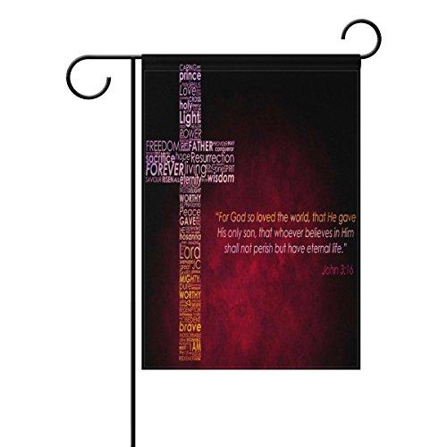 LEISISI Christliches Kreuz Gartenflagge 30,5 x 45,7 cm, zweiseitig 12x18(inch) Pattern-1