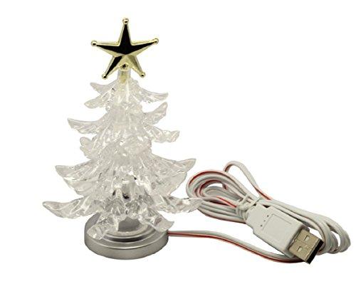 Neuheit Mini Weihnachtsbaum-Shape-Farbe ändern USB LED Licht Nachtlampe (Zustand Weihnachtsbaum)