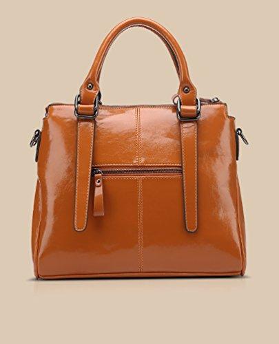 Damen Einfacher Taschen Entwurfs Schulter eutel Handtasche der Frau Aprikose Braun