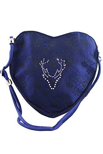 Exklusive Trachten Dirndltaschen viele Verschiedene Designs und Farben Royalblau