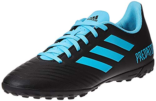 adidas Herren Predator 19.4 TF Fußballschuhe, Mehrfarbig (Core Black/Bright Cyan/Solar Yellow F35636), 44 2/3 EU