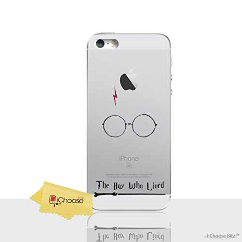 iPhone 5/5s Citations de Harry Potter Étui en Silicone / Coque de Gel pour Apple iPhone 5s 5 SE / Protecteur D'écran et Chiffon / iCHOOSE / Le Garçon