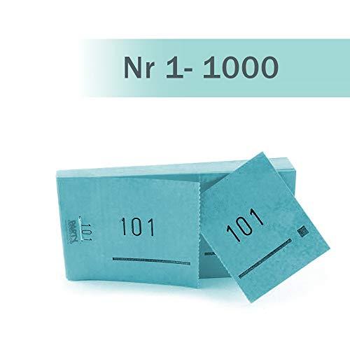 PARTY DISCOUNT Doppelnummern- Block 1000 Abrisse Nr. 01-1000 blau