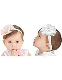 JMITHA Bébé Fille Bow Bandeau Turban fleur Bandeaux élastique serre-tête  Wrap Photographie Belles Cheveux 700619fe49c
