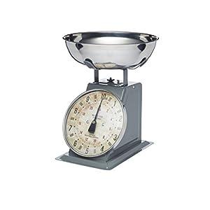 Kitchen Craft Küchenwaage Industrial Kitchen mechanisch bis 10kg, Metall, Grau, 30 x 18 x 18 cm