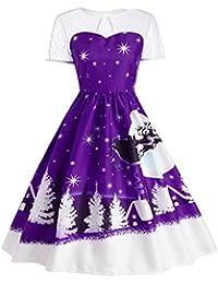 prevently marca nueva alta calidad Creative nieve impresión DE LA MUJER Vintage Navidad O-Neck