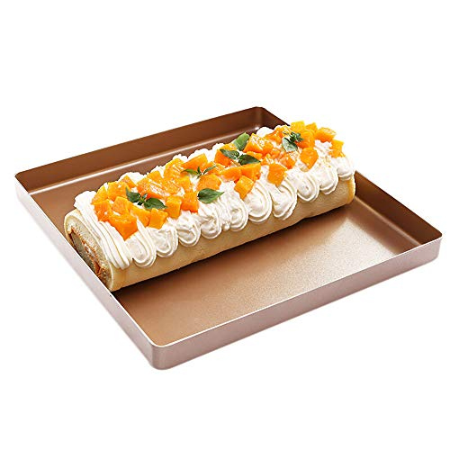 Non-stick Steel Pan Torte (QJJML Backblech Nonstick Pan 2 StüCk - Backformen Sind Ideal FüR Die Zubereitung Von Speisen Mit Wenig Oder Gar Keinem Fett)