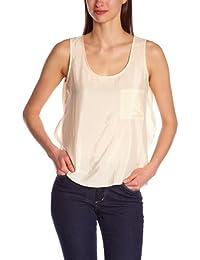 BCBGMAXAZRIA - Camiseta con cuello redondo sin mangas para mujer