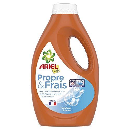 ARIEL Simply Fraîcheur Intense Lessive Liquide 1,1L 20Lavages - Lot de 2