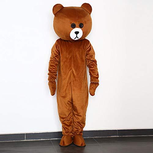 I BIMS-LICHT China bär-Kostüm, Ganzkörper Tier-Kostüme, Tier-Kostüme, Geschenk Erwachsene, 155-185cm, Verkleidung, Karneval, Halloween, Fasching, Geburtstags-Geschenk (B, 155-165cm)