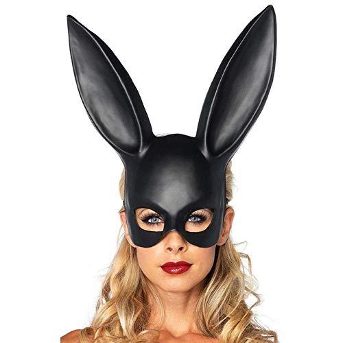 WWVAVA Maske Heiße Frauen mädchen sexy Kaninchen Ohren Maske niedlichen Hasen Lange Ohren Bondage Maske Halloween Maskerade Party Cosplay kostüm Requisiten, 1