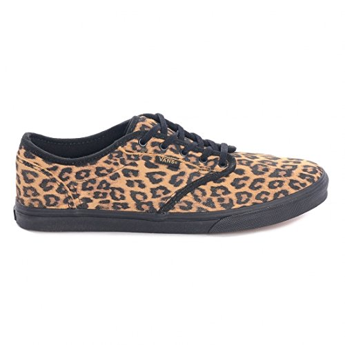 Vans W Atwood Low (Suede) Cheetah, Baskets Basses femme Marron