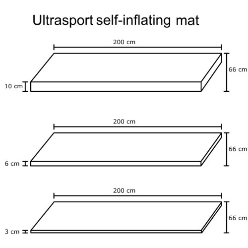 Ultrasport selbstaufblasbare Isomatte, 200 x 66 x 6 cm - 7