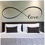 Aisoway Arte Dormitorio Pared Pegatinas decoración del símbolo del Infinito Amor de la...