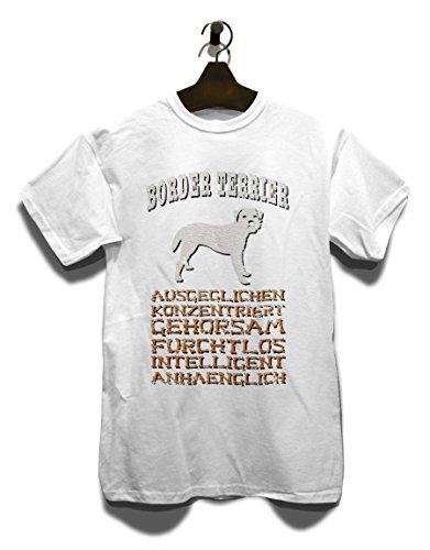 Hund Border Terrier Herren T-Shirt Weiß