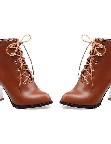ShangYi Mode Frauen Schuhe Damenschuhe Faux Schieber Ferse Schuhe/Stiefel Zehe geschlossen. Schwarz