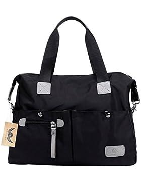 PB-SOAR Damen Herren Nylon Wasserdichte Schultertasche Umhängetasche Handtasche Sporttasche Reisetasche