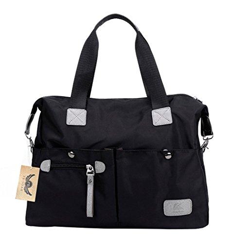 pb-soar-womens-ladies-nylon-waterproof-casual-daily-handbag-shoulder-bag-crossbody-bag-black