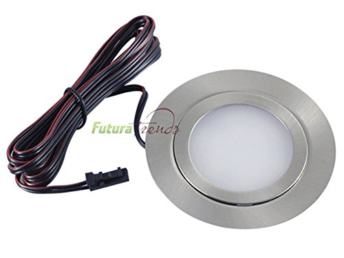 LED Einbauleuchten flach Möbelleuchten Einbaustrahler SLIM 3W HIGH LED SMD 3000K Warmweiß ULTRAFLACH SOLO Einzeln