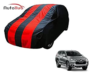 Auto Hub Water Resistant Car Cover for Mitsubishi New Pajero Sport (Navy-Red)