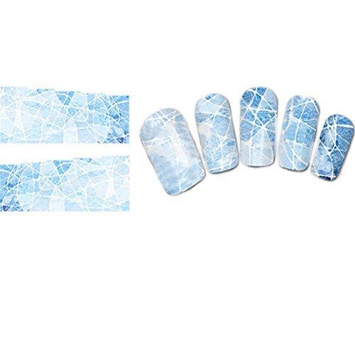 Born Pretty 1 Planche Water Decals Stickers Intégraux Aux Motifs Irréguliers Décorations Ongles Nail Art Manucure