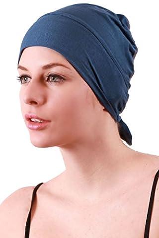 Unisex Tie Back Cotton Cap (Carolina Blue)