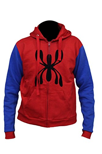Marvel Spider Man Homecoming Tom Holland Red Blue Hoodie