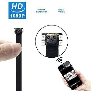 camara espia vision nocturna: UYIKOO 1080P Mini WiFi Cámara Espía Cámara de Seguridad Oculta Inalámbrica Nanny...
