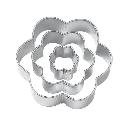 Muffa - SODIAL(R) Fiore Plum Blossom Outs del taglio Cookie Cutters, Set di (Divertimento Cookie Cutters)