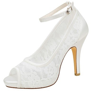 Wuyulunbi@ Scarpe donna raso elasticizzato estate della pompa base scarpe matrimonio Stiletto Heel Peep toe fibbia per Party & abito da sera Un