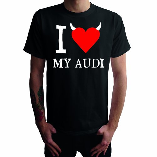 I don't love my Audi Herren T-Shirt Schwarz