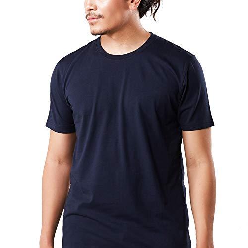 HRM Herren Luxury Round M T-Shirt, Blau 04-Navy, Medium -