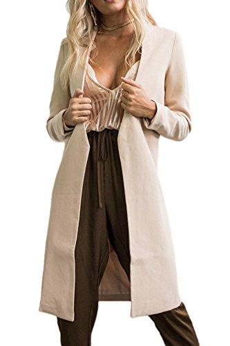 Les Femmes D'hiver Devant L'épais Vêtements Imperméables Occasionnels Ouvert apricot