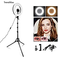 "TrendMax 14 Inches Big LED Ring Light for Camera, Phone tiktok YouTube Video Shooting and Makeup, Stand and Light (14"" inchs Light + Stand)"