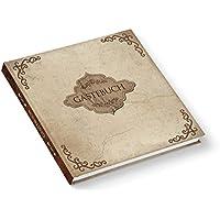 Libro de visitas antiguo, estilo vintage, 21 cm x 21 cm, tapa dura