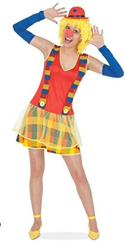 Damenkostüm Clownette Kleid Karneval Fasching Halloween Horrorclown Gr 34 - 40 (36)