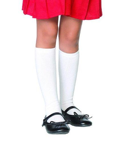 Leg Avenue - Kniestrümpfe für Mädchen - weiß - 4-6 Jahre