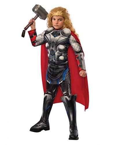 Avengers 2 Thor Deluxe Kinderkostüm für Fasching & Halloween S (Avengers Thor 2 Deluxe Kind Kostüme)