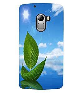 ColourCraft Creative Leafs Design Back Case Cover for LENOVO A7010