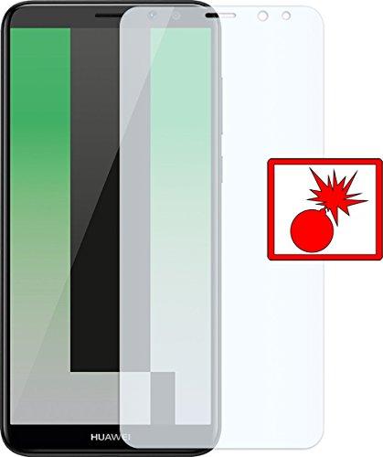 Slabo 1 x Panzerschutzfolie Huawei Mate 10 Lite Panzerfolie Displayschutzfolie Schutzfolie Folie (verkleinerte Folien, aufgrund der Wölbung des Displays) Shockproof KLAR - unsichtbar Made IN Germany